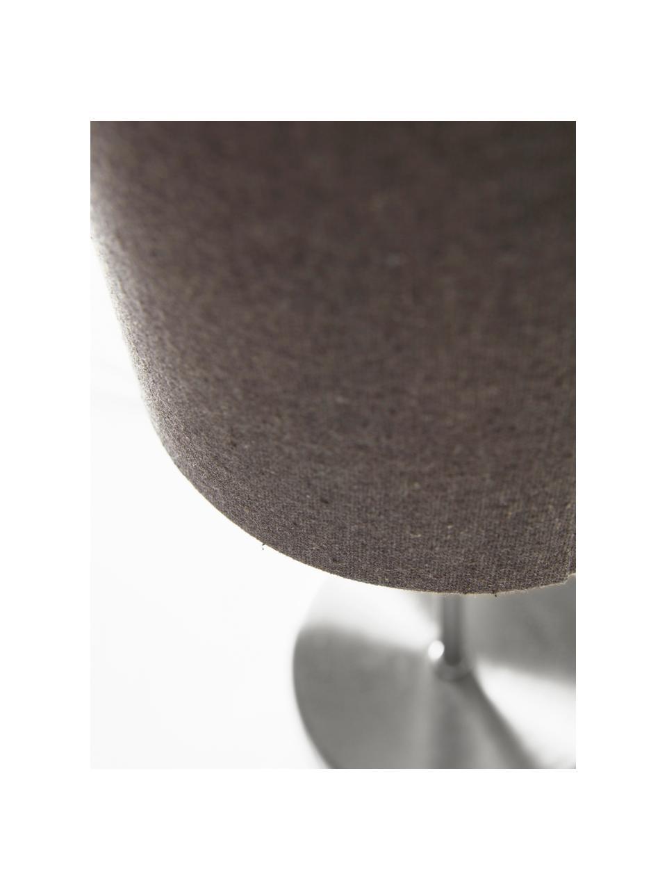 Lampada da tavolo con paralume in tessuto Seth 2 pz, Paralume: tessuto, Base della lampada: metallo nichelato, Struttura: metallo nichelato, Grigio, color nickel, Ø 15 x Alt. 45 cm