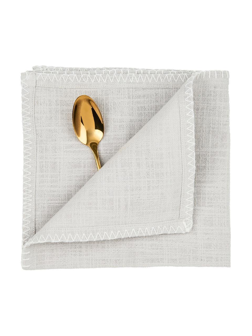 Stoff-Servietten Finca, 2 Stück, Baumwolle, Grau, 42 x 42 cm