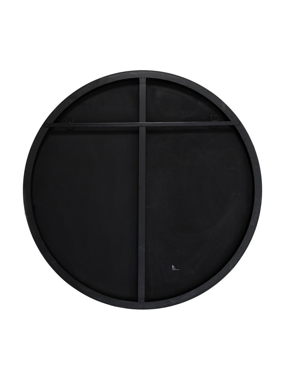 Ronde wandspiegel Complete met zwarte lijst, Lijst: gelakt MDF, Zwart, Ø 100 cm