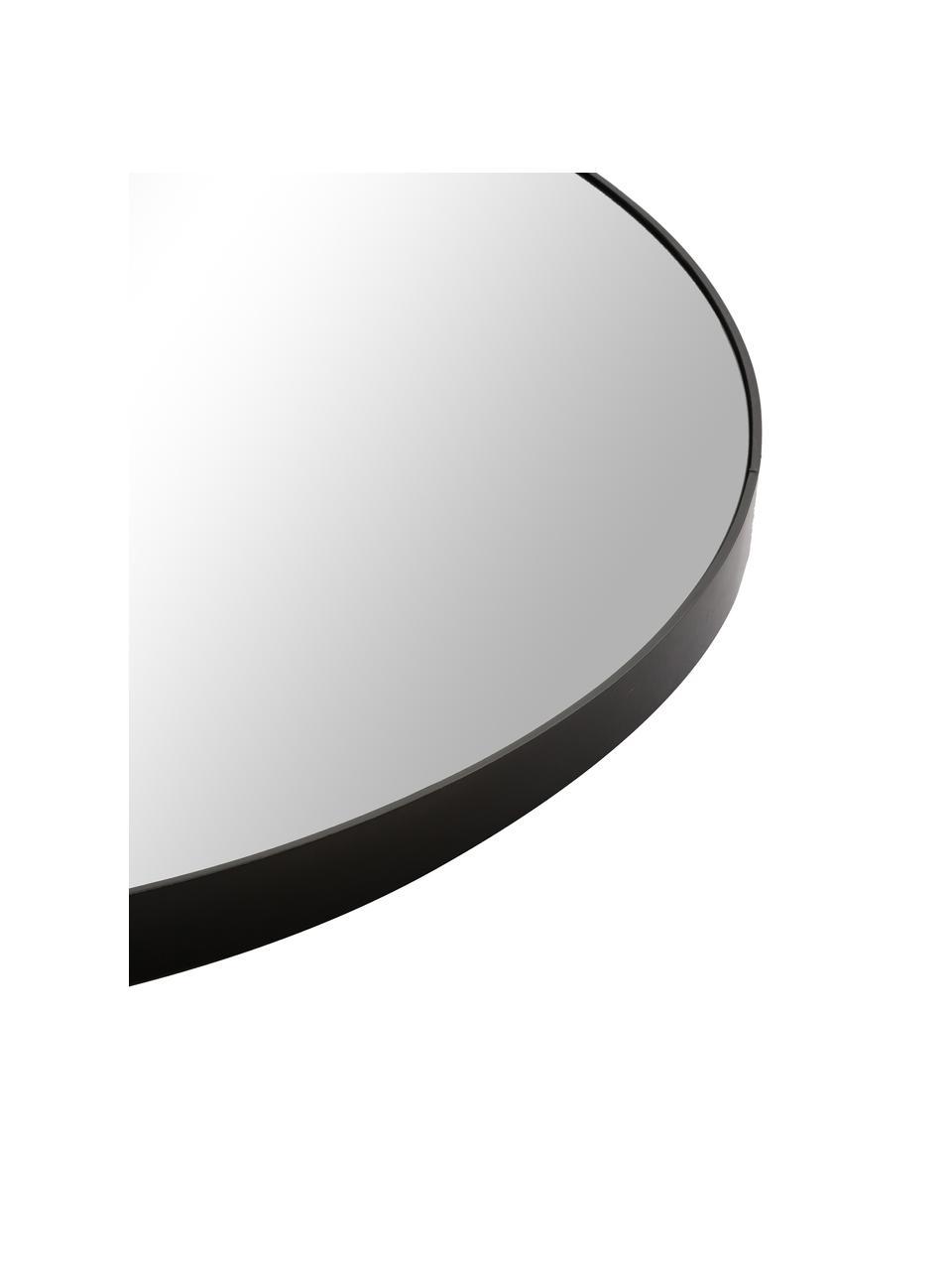 Runder Wandspiegel Complete mit schwarzem Holzrahmen, Rahmen: Mitteldichte Holzfaserpla, Spiegelfläche: Spiegelglas, Schwarz, Ø 110 x T 4 cm