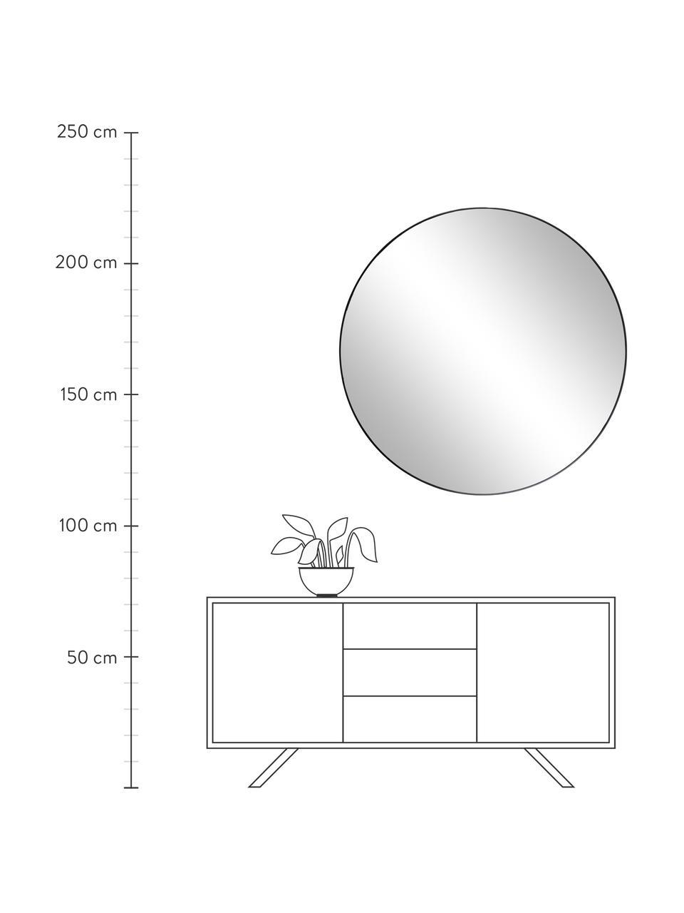 Specchio da parete rotondo con cornice nera Complete, Cornice: Pannello di fibra a media, Nero, Ø 100 cm