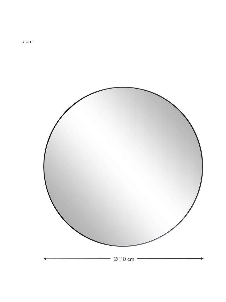 Specchio da parete rotondo con cornice nera Complete, Cornice: Pannello di fibra a media, Nero, Ø 100 cm x Prof. 4 cm