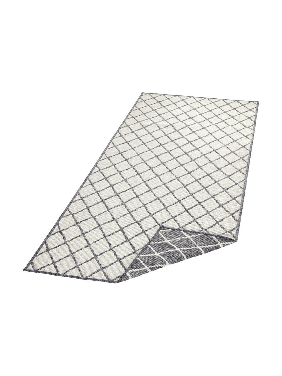 Dwustronny chodnik wewnętrzny/zewnętrzny  Malaga, Szary, odcienie kremowego, S 80 x D 250 cm