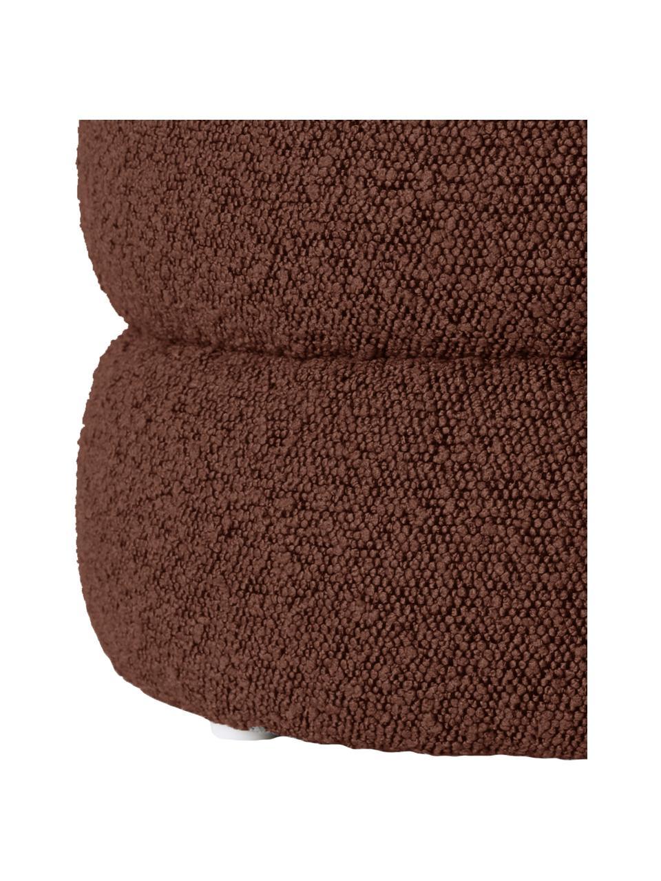 Bouclé-Hocker Alto in Braun, Bezug: Bouclé (100% Polyester) D, Gestell: Massives Kiefernholz, Spe, Bouclé Braun, Ø 42 x H 47 cm