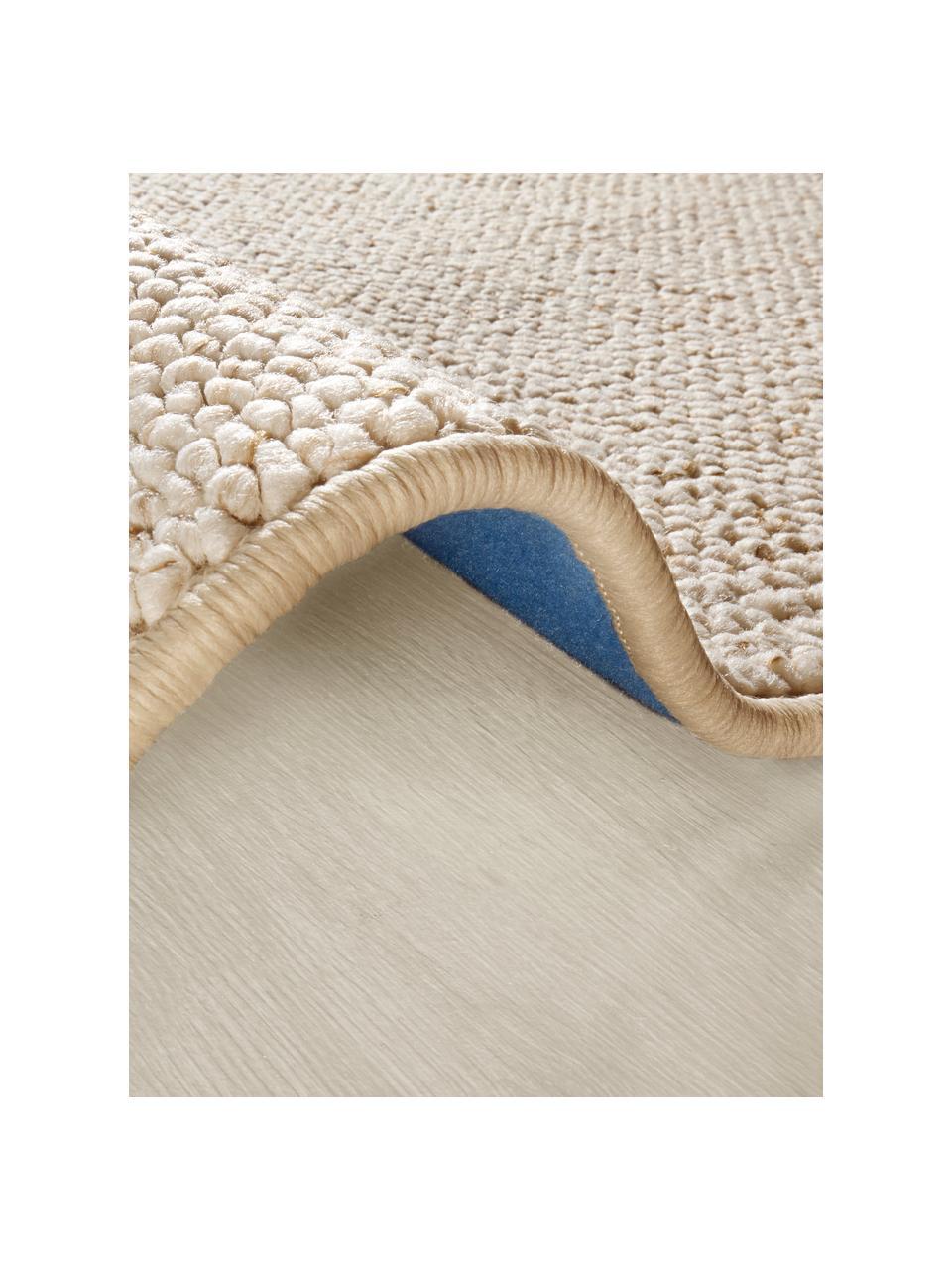 Runder Teppich Lyon mit Schlingen-Flor, Flor: 100% Polypropylen Rücken, Creme, melangiert, Ø 200 cm (Größe L)