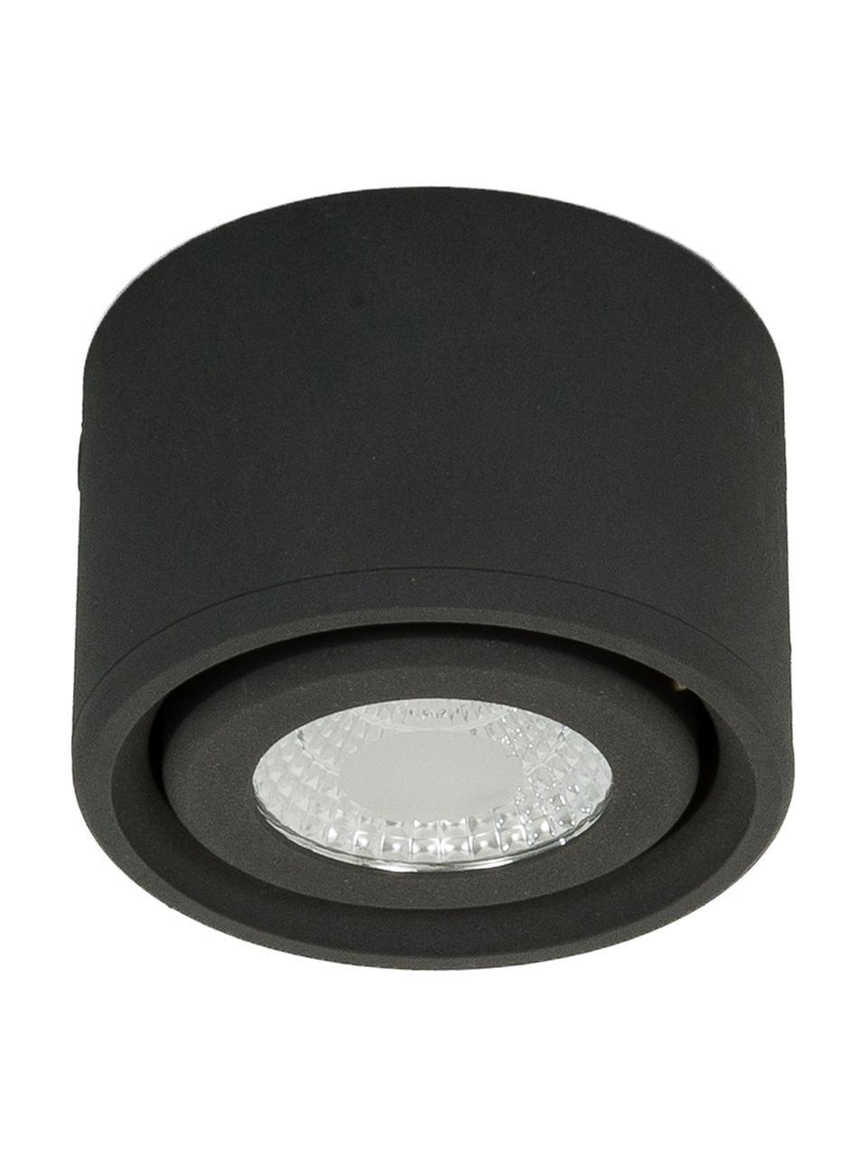 LED plafondspot Anzio in antraciet, Lamp: gecoat aluminium, Antraciet, Ø 8 x H 5 cm