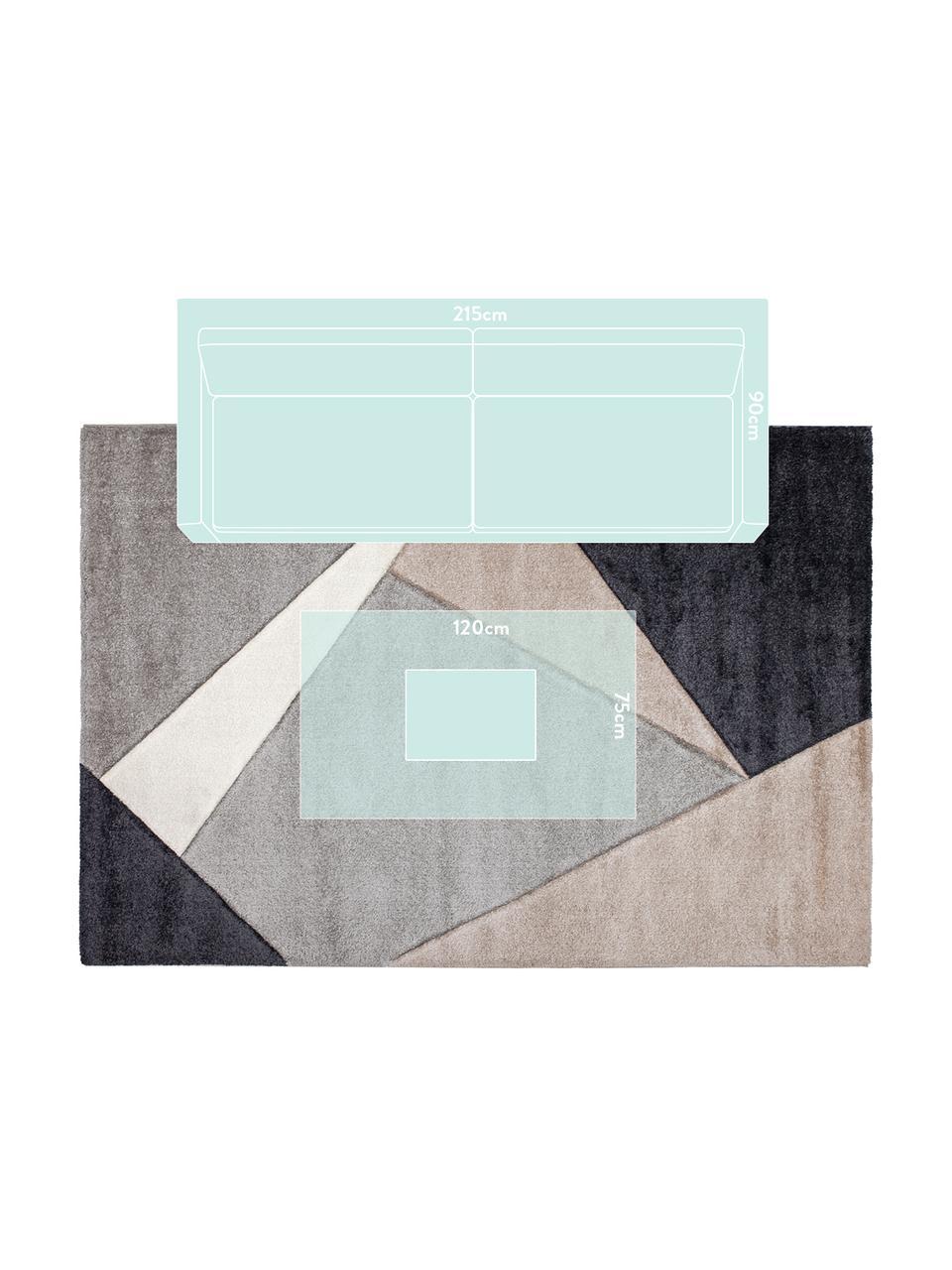 Dywan My Broadway, Taupe, beżowy, antracytowy, szary, S 200 x D 290 cm (Rozmiar L)