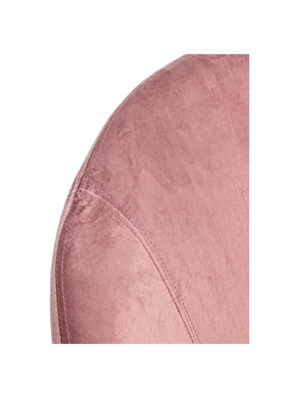 Sedia a dondolo in velluto rosa Annika, Rivestimento: velluto di poliestere, Struttura: metallo verniciato a polv, Velluto rosa, Larg. 74 x Prof. 77 cm