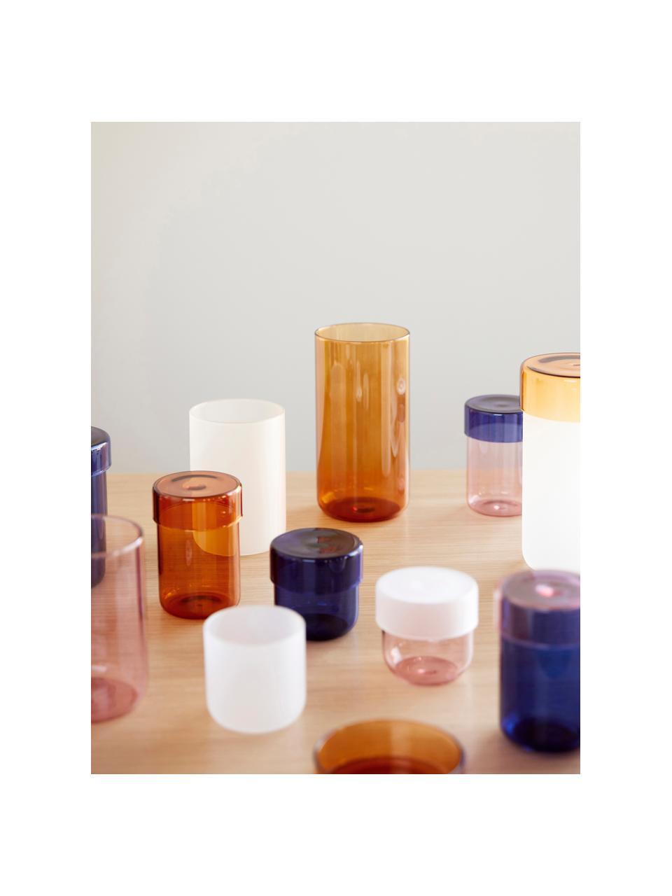 Aufbewahrungsdosen-Set Transisto, 2-tlg., Glas, Rosa, Dosen-Set S