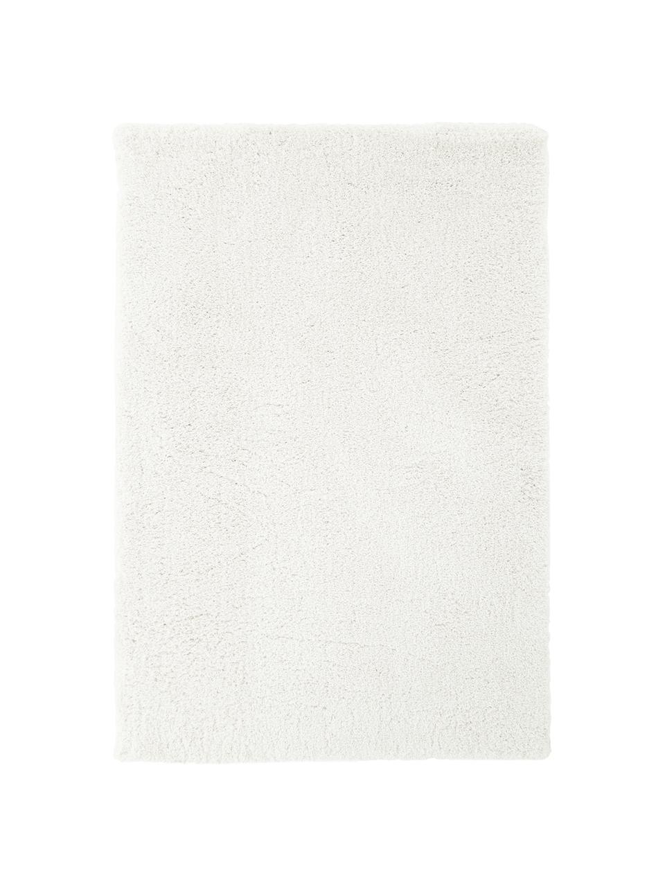 Tappeto morbido a pelo lungo color crema Leighton, Retro: 70% poliestere, 30% coton, Crema, Larg. 80 x Lung. 150 cm (taglia XS)