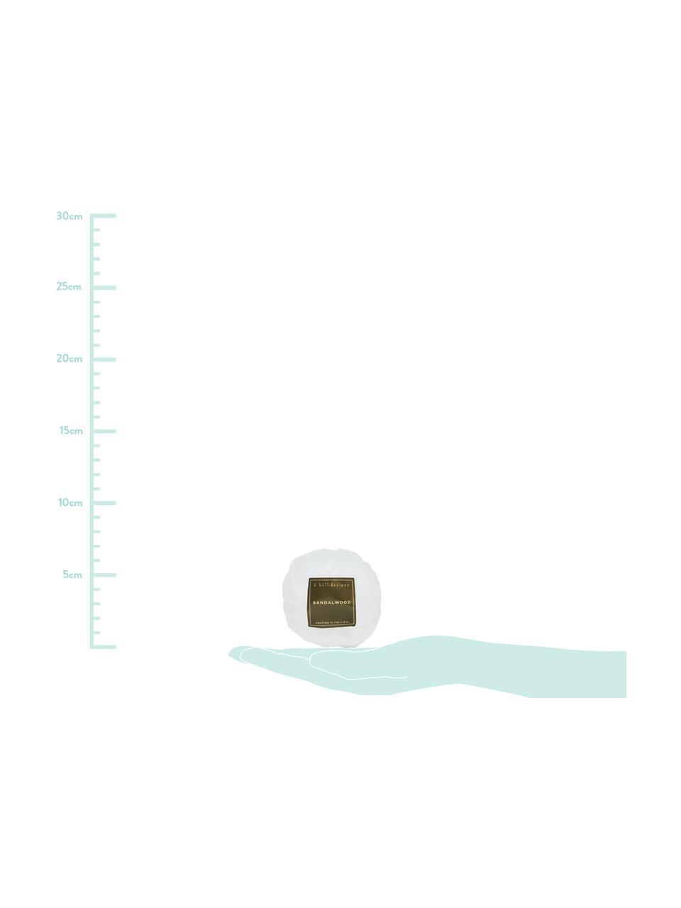 Badekugel Sandalwood (Sandelholz & Moschus), Weiß, Ø 7 x H 7 cm