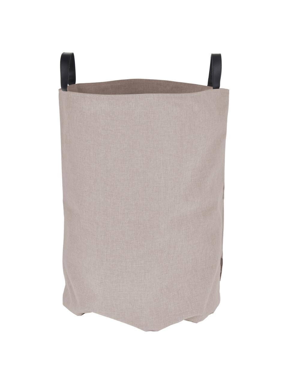 Kosz na pranie Floor, Kosz do przechowywania: beżowy Uchwyty: czarny, Ø 40 x W 55 cm
