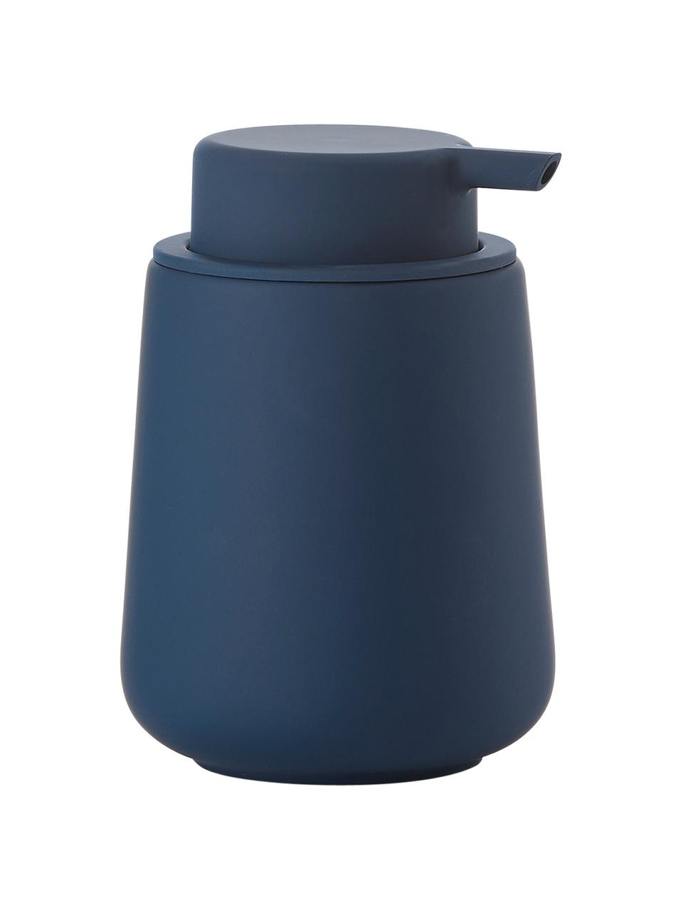 Porzellan-Seifenspender Nova One, Behälter: Porzellan, Königsblau, Ø 8 x H 12 cm