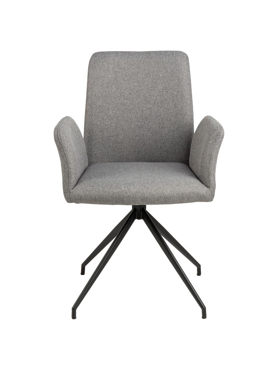 Čalouněná otočná židle Naya, Světle šedá