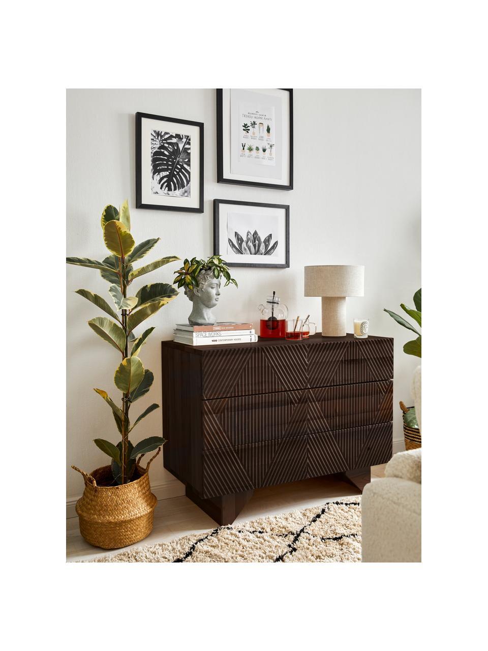 Cassettiera in legno di mango massiccio Louis, Legno di mango, Larg. 100 x Alt. 75 cm