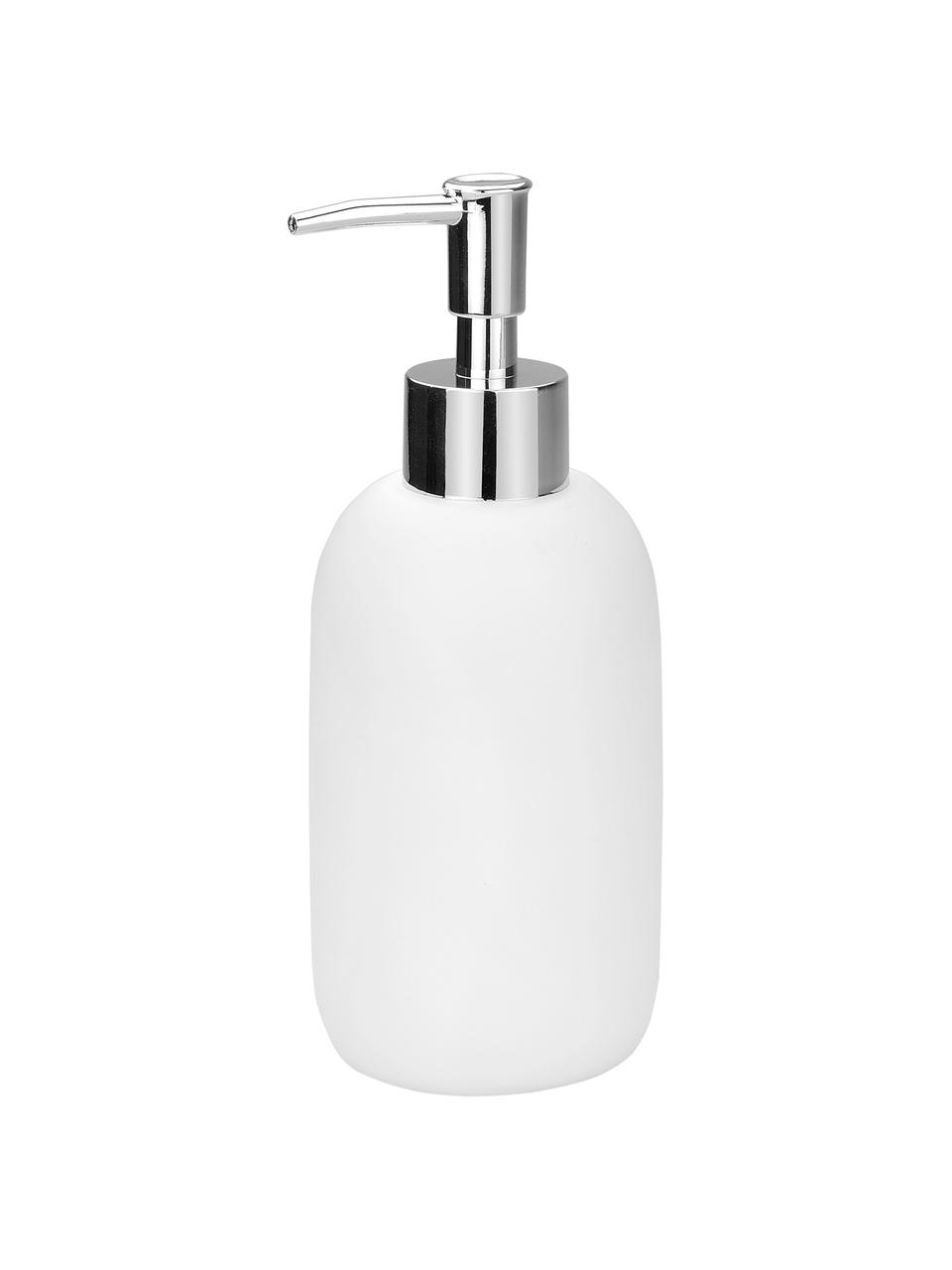 Seifenspender Angel, Behälter: Keramik, Pumpkopf: Kunststoff, Weiß, Ø 7 x H 19 cm