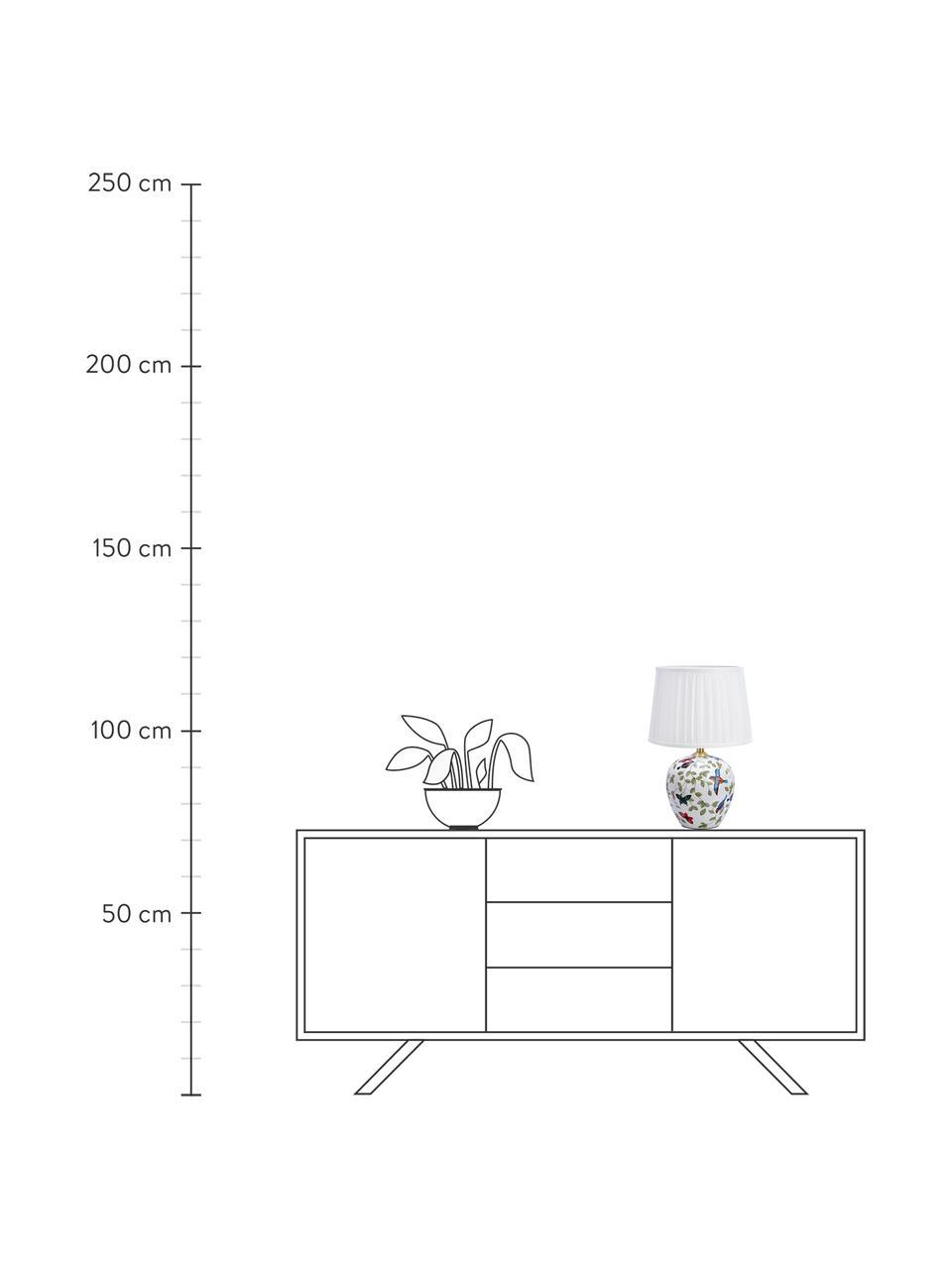 Lampa stołowa z ceramiki Mansion, Biały, wielobarwny, Ø 31 x W 45 cm