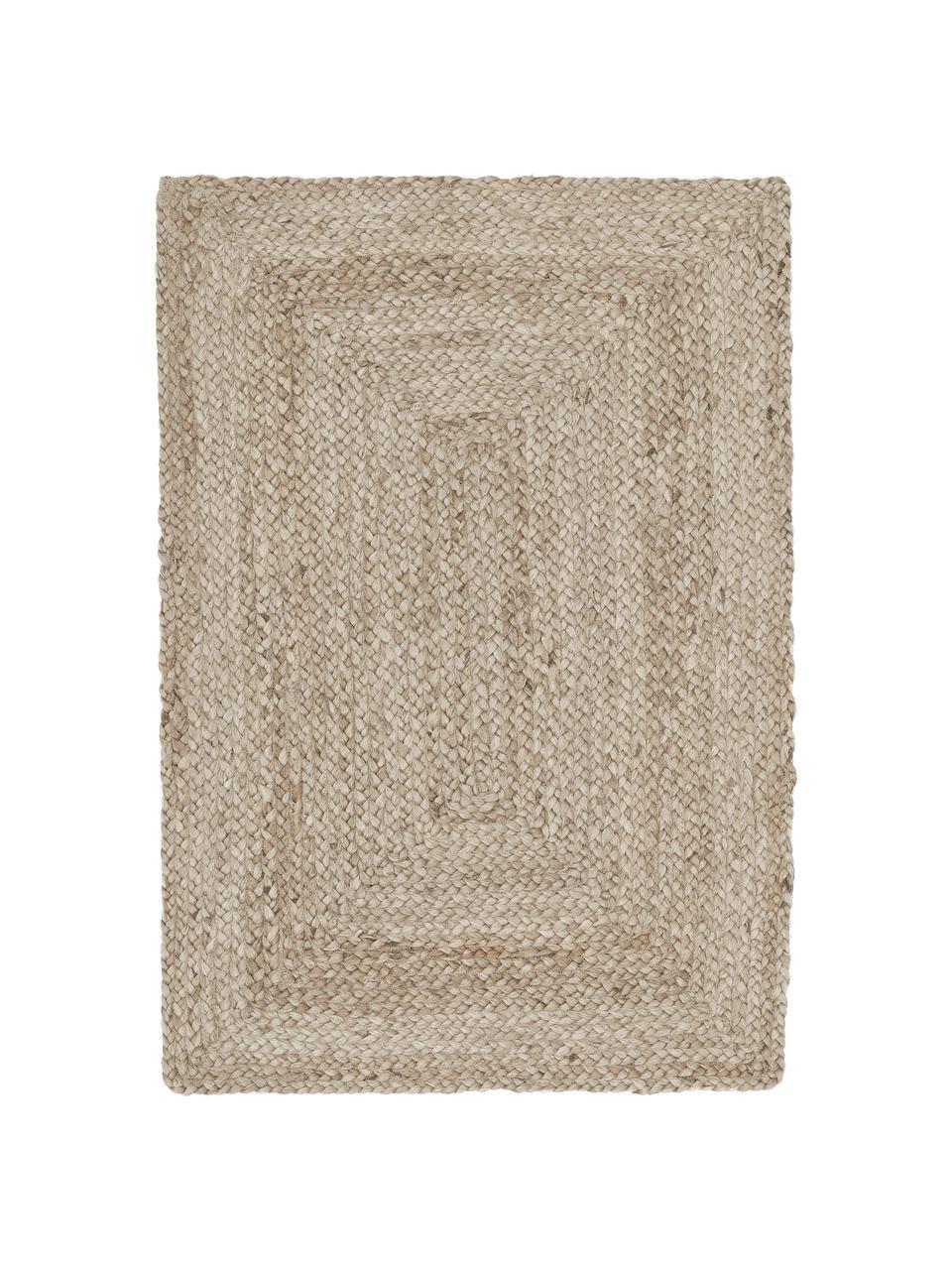 Alfombra artesanal de yute Sharmila, 100%yute, Beige, An 200 x L 300 cm(Tamaño L)