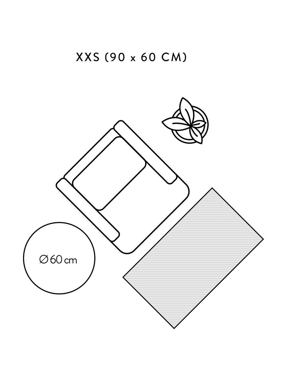 Tappeto in juta fatto a mano Sharmila, 100% juta, Beige, Larg. 60 x Lung. 90 cm (taglia XXS)