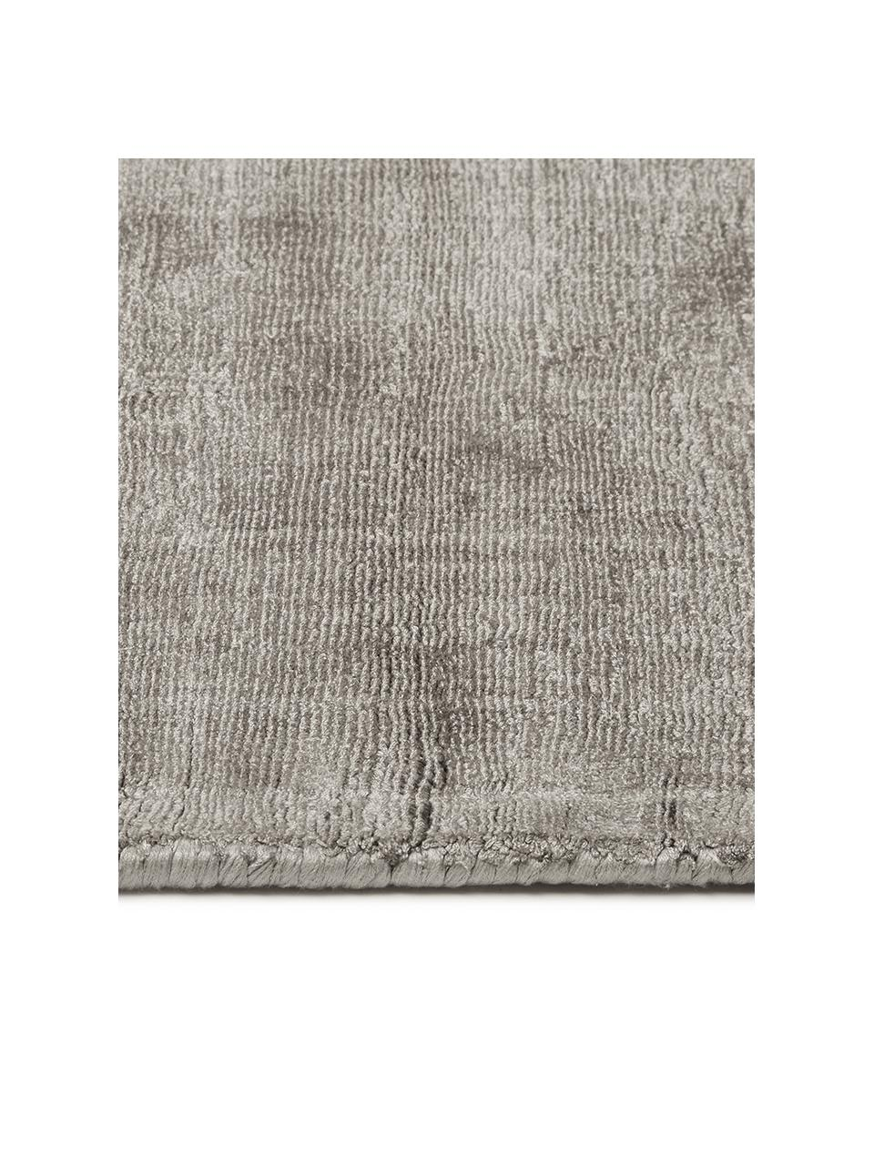 Ručně tkaný viskózový koberec Jane, Šedobéžová