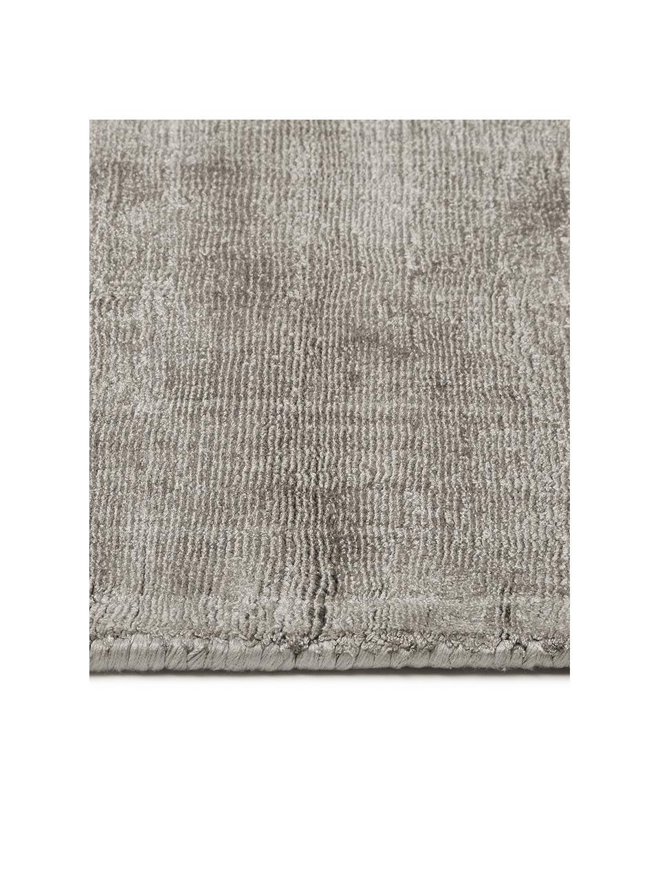 Tappeto in viscosa color taupe tessuto a mano Jane, Retro: 100% cotone, Taupe, Larg. 300 x Lung. 400 cm (taglia XL)