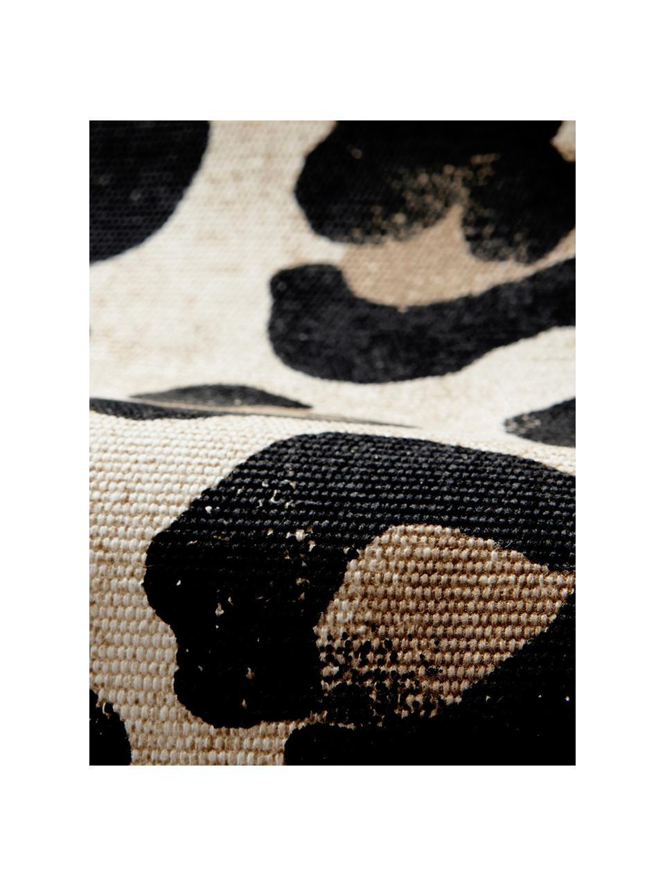 Tovaglietta americana in cotone Leo 2 pz, Cotone, Marrone chiaro, nero, Larg. 35 x Lung. 45 cm