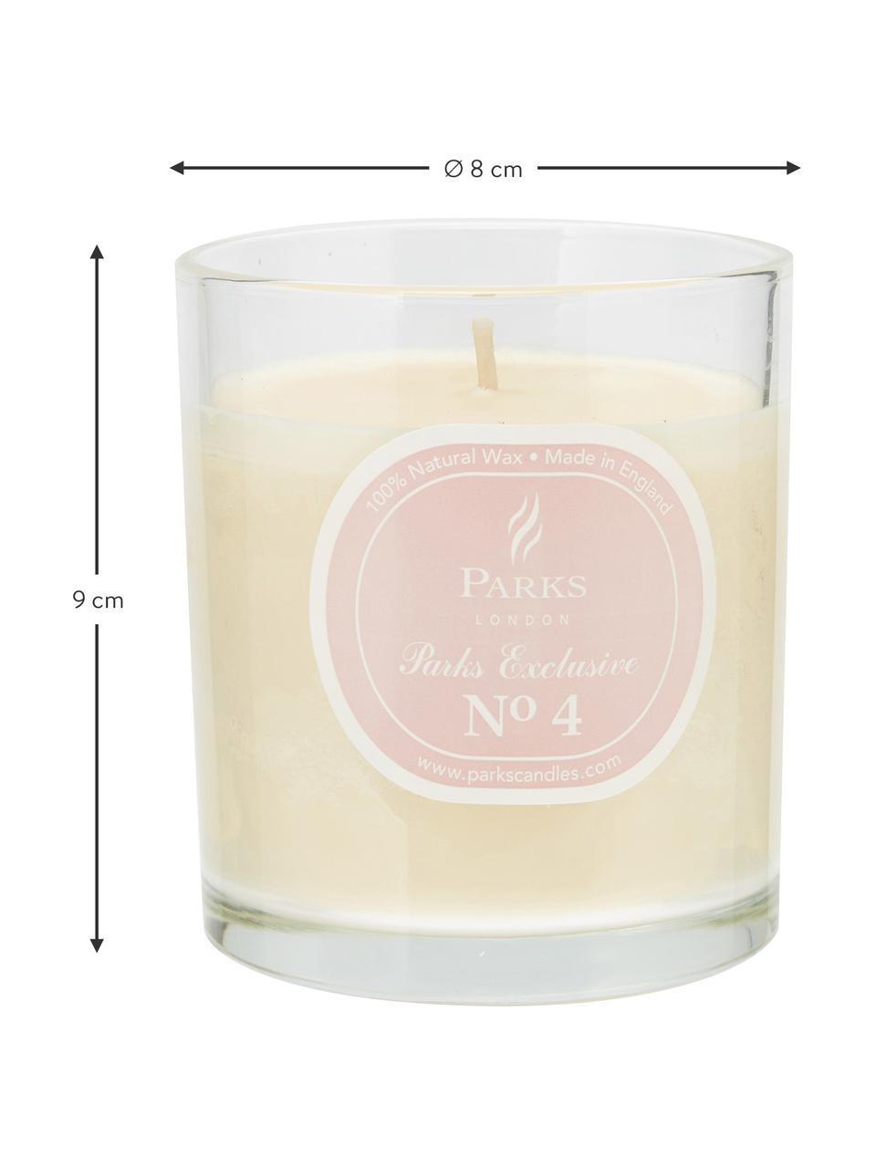 Candela profumata Exclusive No 4 (passiflora & vaniglia), Trasparente, bianco, Salmone, Ø 8 x Alt. 9 cm