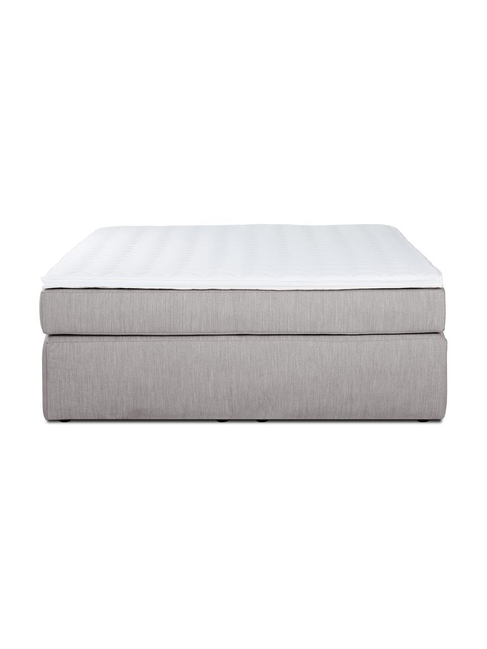 Łóżko kontynentalne bez zagłówka Enya, Nogi: tworzywo sztuczne, Ciemny szary, S 200 x D 200 cm