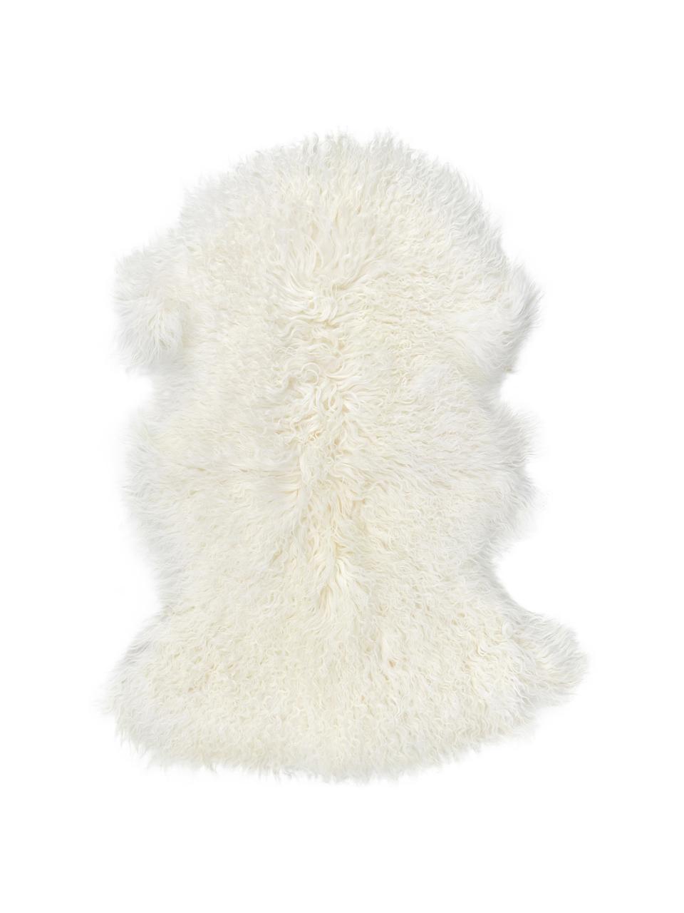 Peau d'agneau à poils longs Ella, Blanc