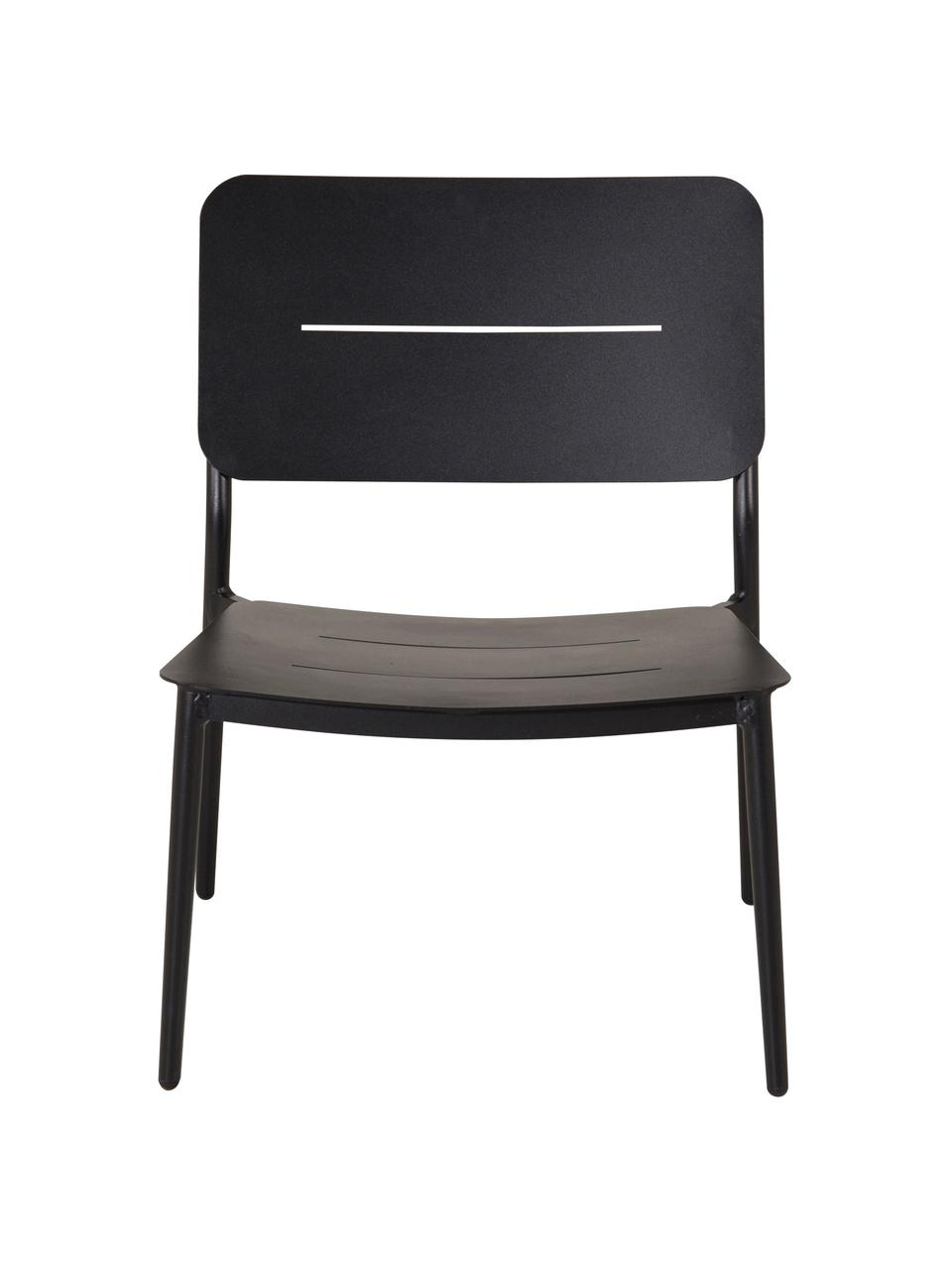 Metall-Lounge-Sessel Lina, Metall, lackiert, Schwarz, B 55 x T 59 cm