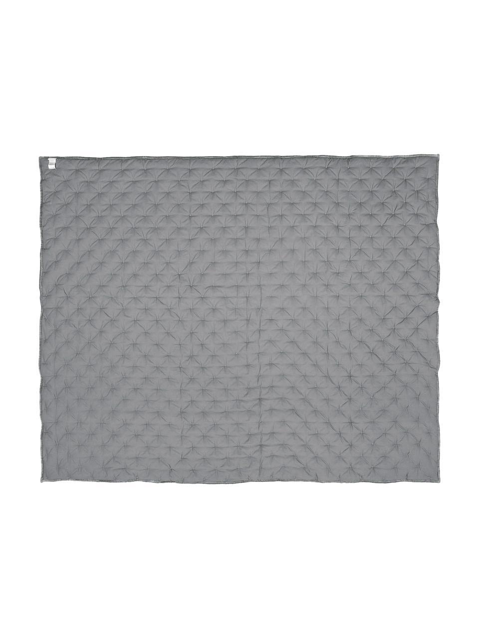 Watowana narzuta z aksamitu Cheryl, Szary, S 160 x D 220 cm (na łóżka do 140 x 200)