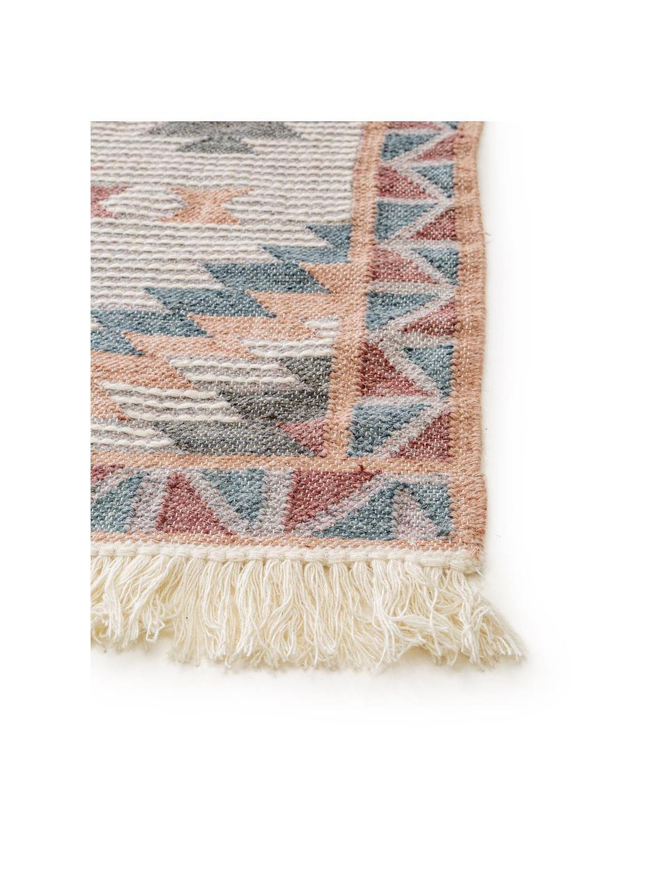 Ręcznie tkany dywan kilim z frędzlami Cari, 70% wełna, 30% poliester, Wielobarwny, S 200 x D 300 cm (Rozmiar L)