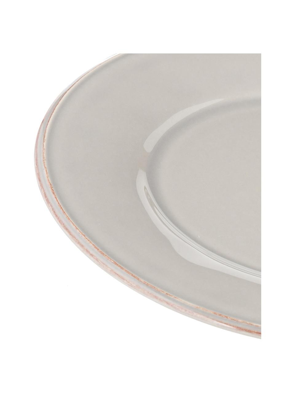 Piatto piano grigio chiaro Constance 2 pz, Gres, Grigio chiaro, Ø 29 cm