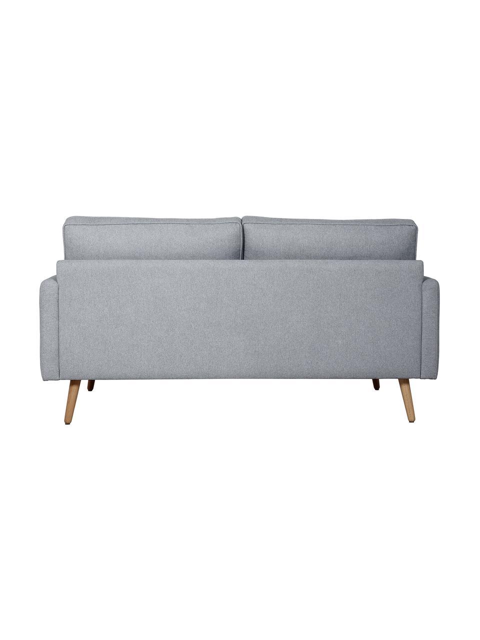 Sofa z nogami z drewna dębowego Saint (2-osobowa), Tapicerka: poliester Dzięki tkaninie, Niebieskoszary, S 169 x G 93 cm