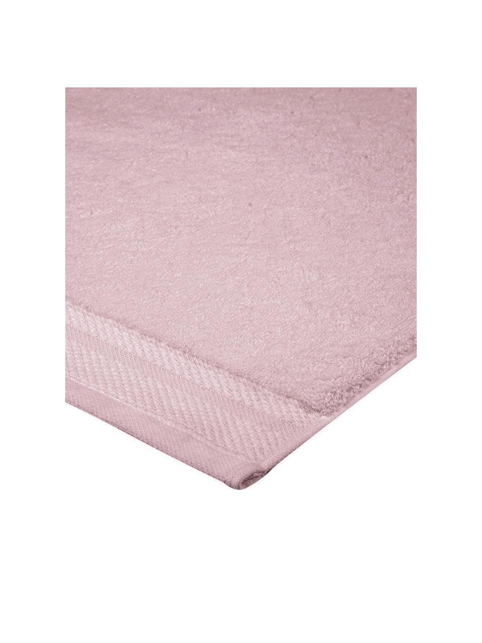 Badematte Premium, rutschfest, 100% Baumwolle, schwere Qualität 600 g/m², Altrosa, 50 x 70 cm