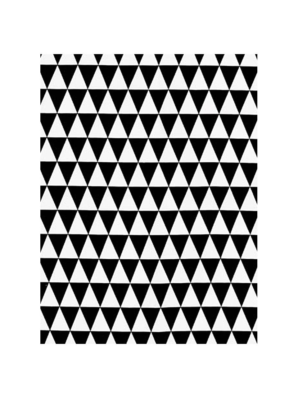 Kompostierbare Schwammtuch-Rolle Dreieck, 70% Cellulose, 30% Baumwolle, Weiß, Schwarz, 24 x 25 cm