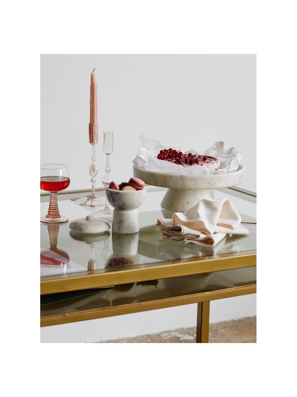 Présentoir à gâteau en marbre Isop, Ø30, Blanc