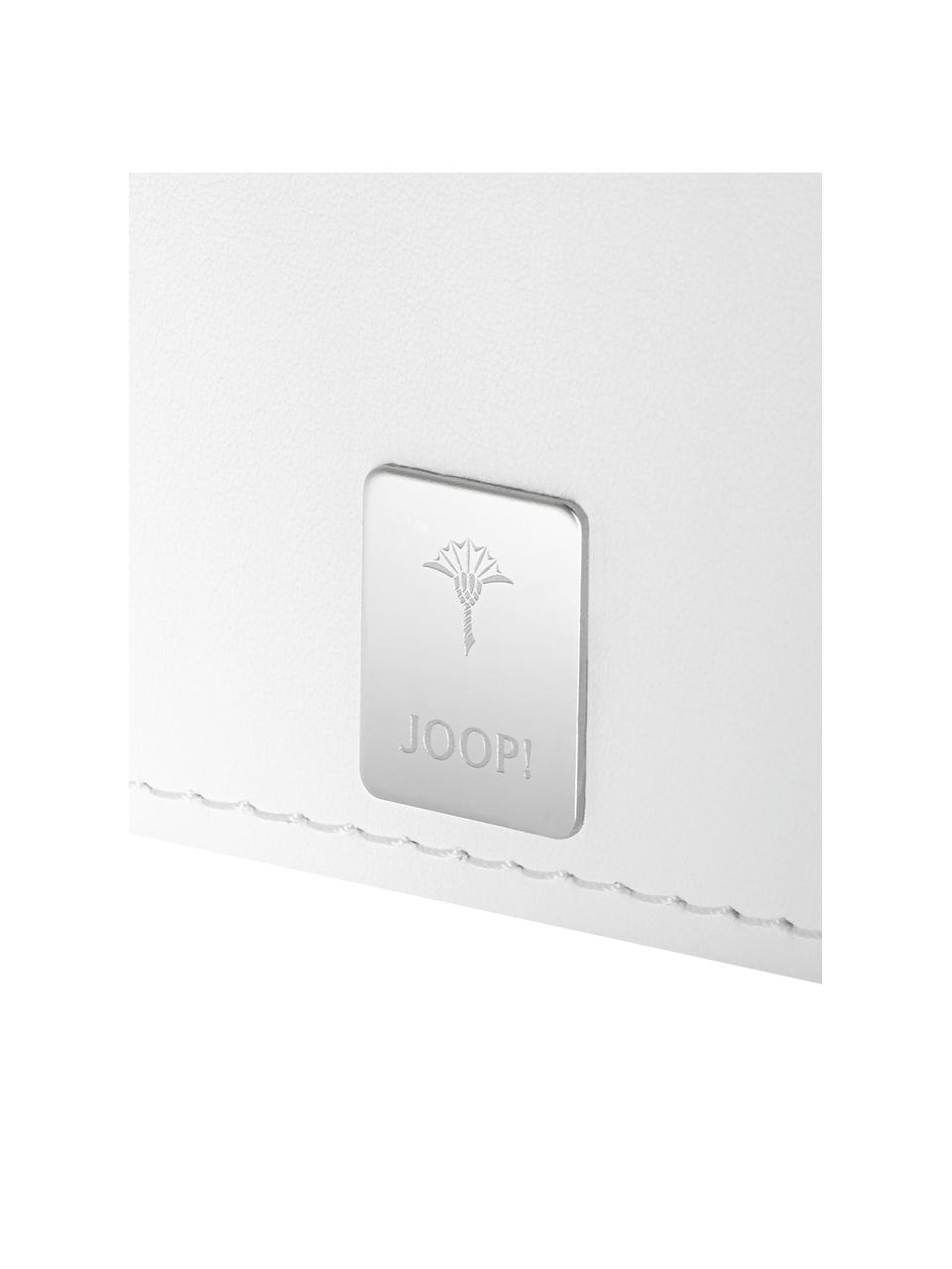 Kosmetiktuchbox Polly aus Kunstleder, Kunstharz, Kunstleder, Reinweiß, 13 x 13 cm