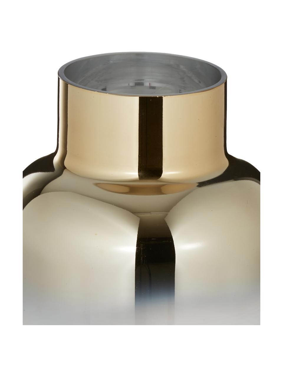 Vaso in vetro Uma, Vetro, Trasparente, dorato, Ø 16 x Alt. 35 cm