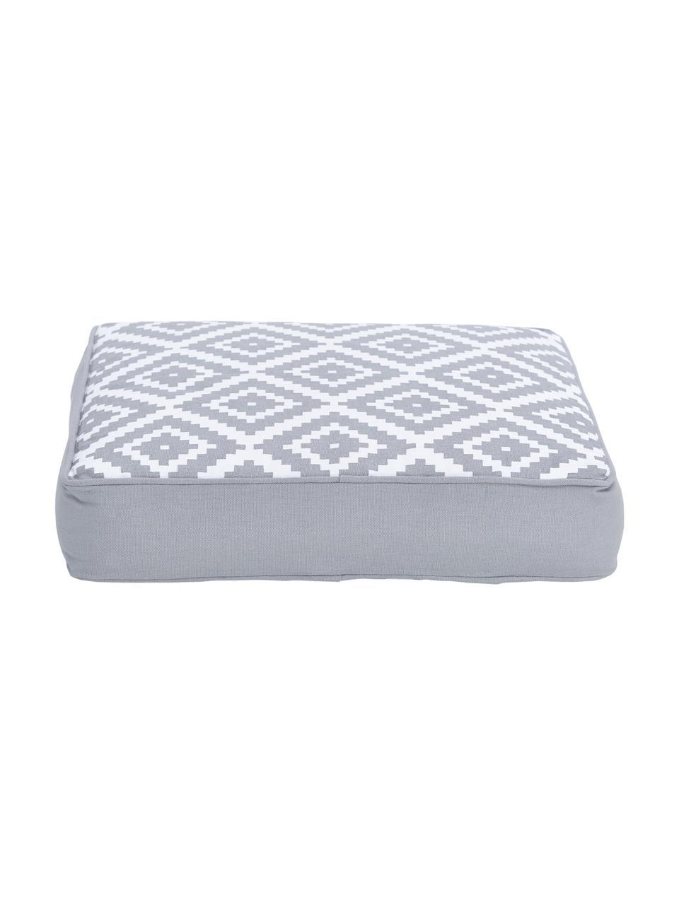 Wysoka poduszka na krzesło Miami, Szary, S 40 x D 40 cm