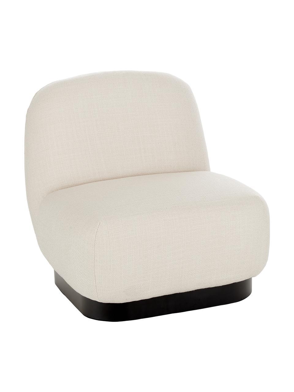 Fotel koktajlowy Elsie, Tapicerka: poliester, Noga: metal malowany proszkowo, Kremowobiały, S 77 x G 84 cm