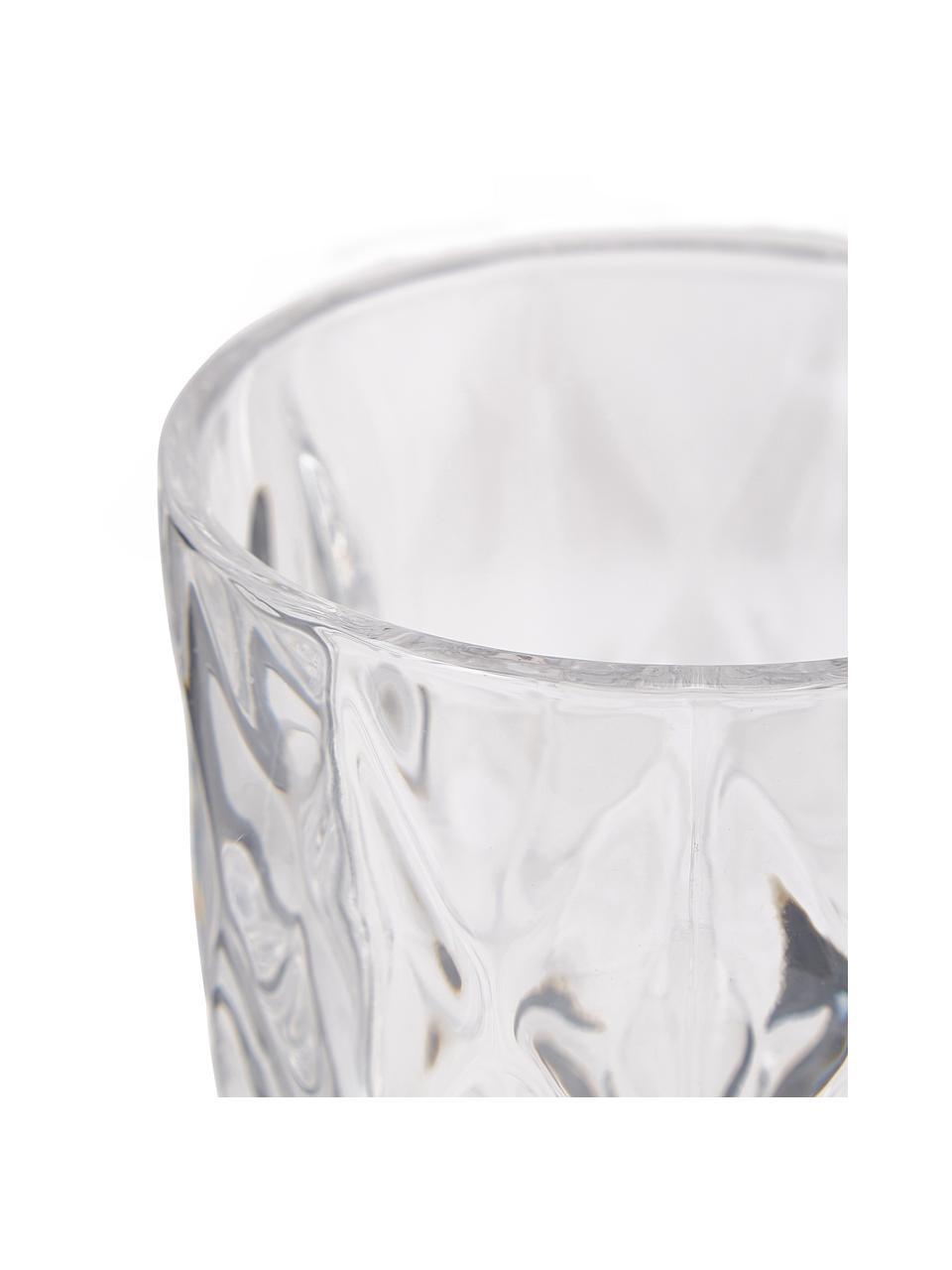 Wassergläser Colorado mit Strukturmuster, 4 Stück, Glas, Transparent, Ø 8 x H 10 cm