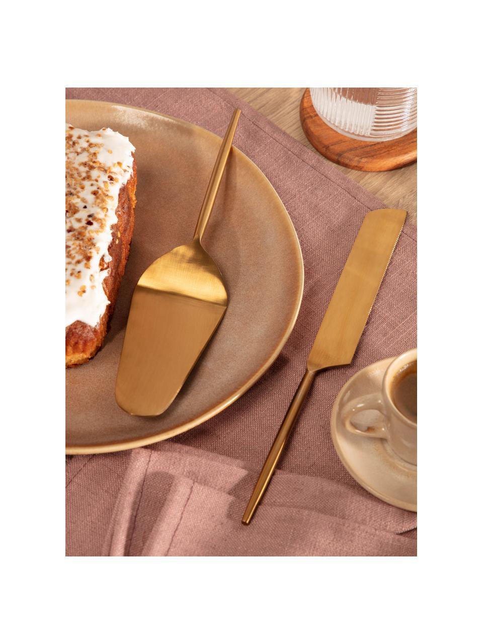 Tortenheber Lite in Gold aus Edelstahl, 2er-Set, Rostfreier Stahl, beschichtet, Goldfarben, Set mit verschiedenen Größen