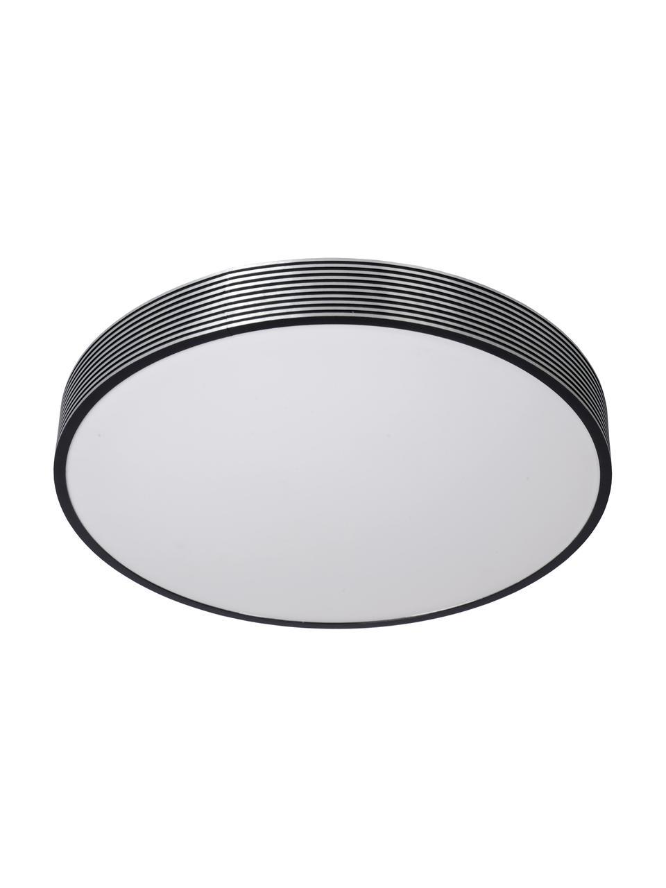 LED-Deckenleuchte Malin aus Metall, Lampenschirm: Metall, Diffusorscheibe: Acryl, Schwarz, Weiß, Ø 39 x H 7 cm