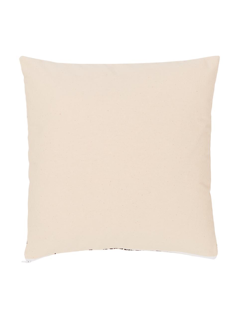 Kissenhülle Animal Toile, 100% Bio-Baumwolle, GOTS zertifiziert, Beige, 45 x 45 cm