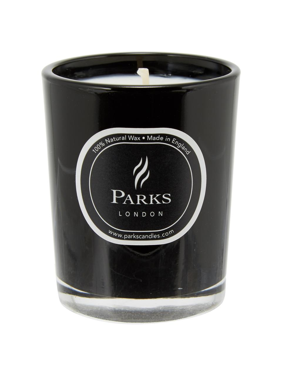 Duftkerze Noir (Sandelholz & Ylang Ylang), Behälter: Glas, Schwarz, Ø 5 x H 6 cm