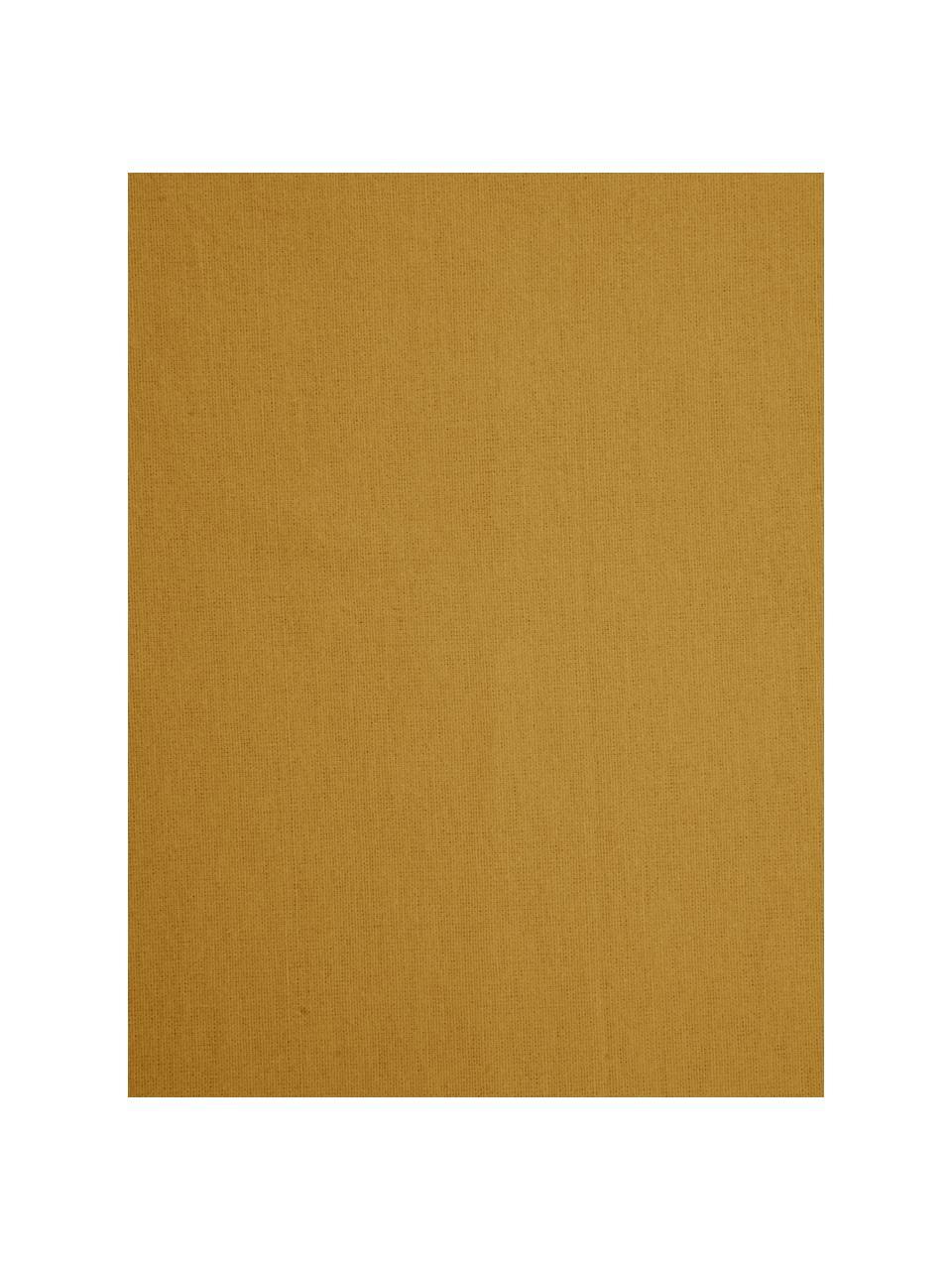 Flanell-Spannbettlaken Biba in Senfgelb, Webart: Flanell, Gelb, 90 x 200 cm