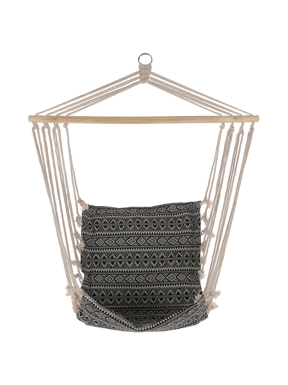 Fotel wiszący Pamut, Czarny, biały, S 97 x W 120 cm