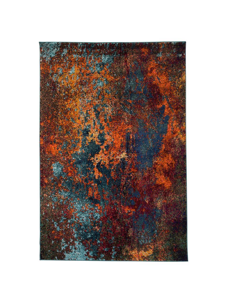 Design vloerkleed Celestial in kleur, Bovenzijde: 100% polypropyleen, Onderzijde: jute, Roodtinten, blauwtinten, groen, B 240 x L 320 cm (maat L)