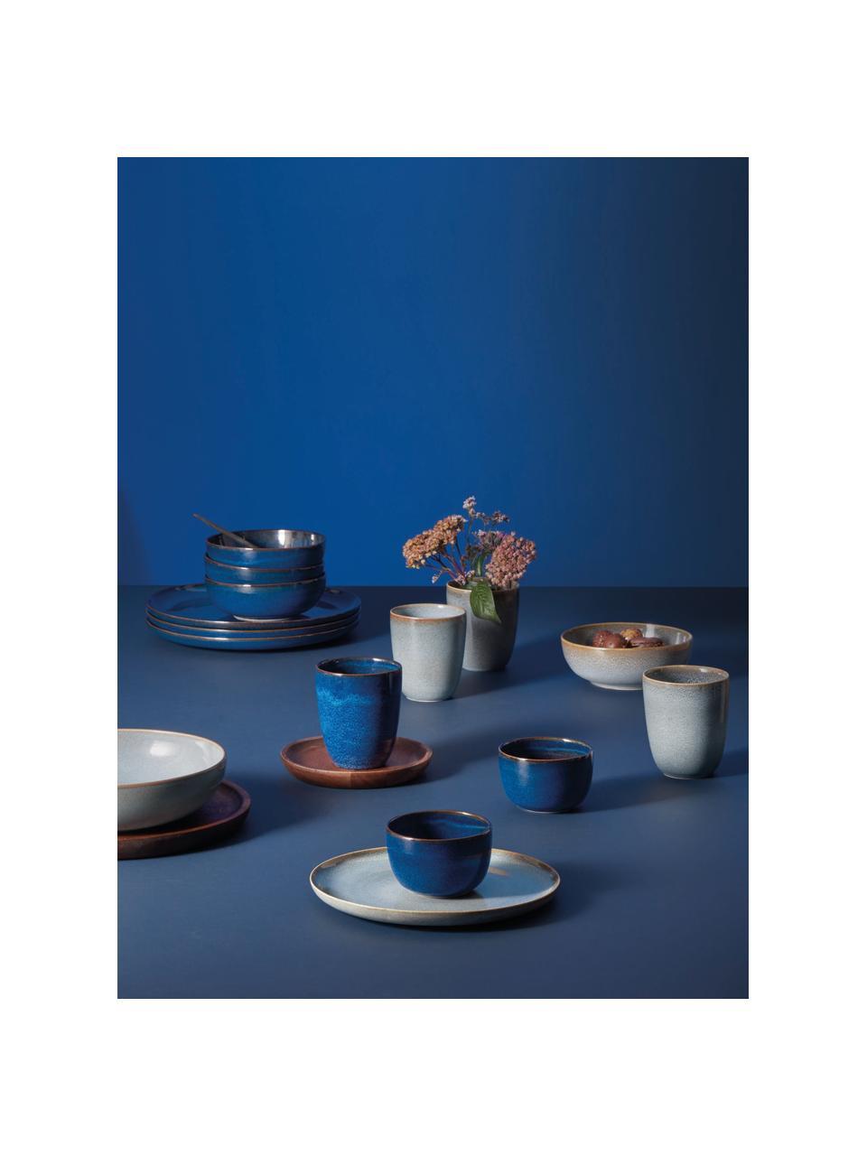 Frühstücksteller Saisons aus Steingut in Blau, 6 Stück, Steingut, Blau, Ø 21 cm